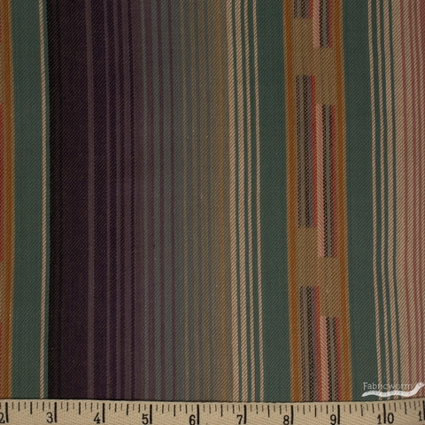 Imported Woven Yarn-Dyes, Flaring Sun, Stripe Dusty Multi