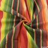 Imported Woven Yarn-Dyes, Flaring Sun, Stripe Green Red