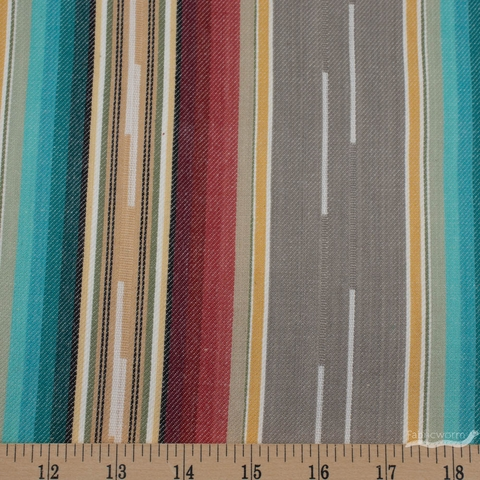 Imported Woven Yarn-Dyes, Flaring Sun, Stripe Grey