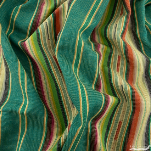 Imported Woven Yarn-Dyes, Flaring Sun, Stripe Turquoise