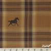 Imported Woven Yarn-Dyes, Mustang, Black Horse Brown Plaid