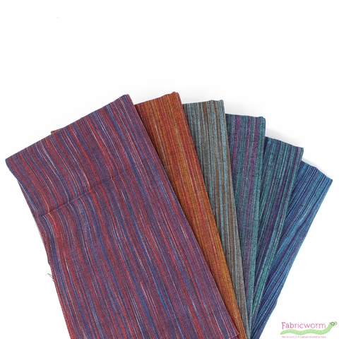 Imported Woven Yarn-Dyes, Ombre Ridge in FAT QUARTERS 6 Total