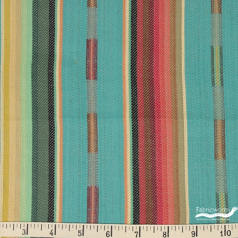 Imported Woven Yarn-Dyes, Pueblo Dobby, Teal Multi