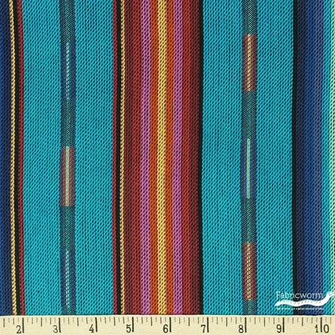Imported Woven Yarn-Dyes, Pueblo Dobby, Turquoise Multi