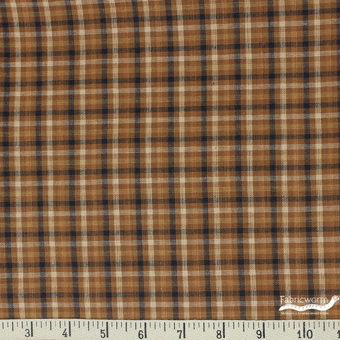 Imported Woven Yarn-Dyes, Rustic Woven, Plaid Brown Black