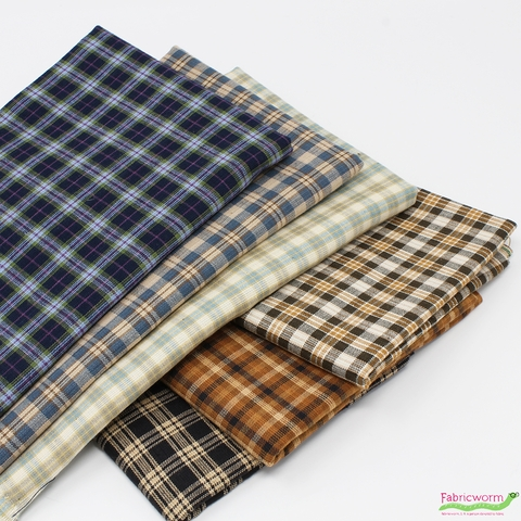 Imported Woven Yarn-Dyes, Rustic Woven, Plaid in FAT QUARTERS 6 Total