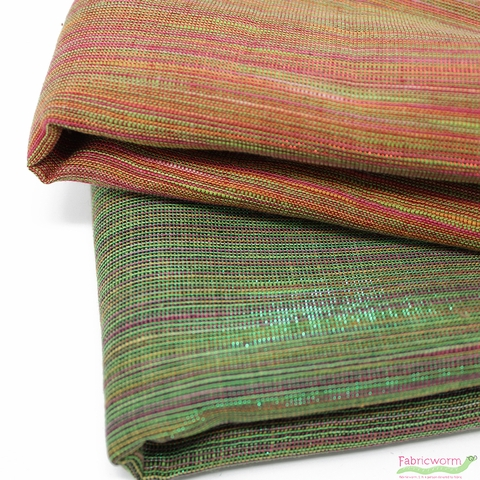 Imported Woven Yarn-Dyes, Sedona Sunset Metallic, Fuchsia Lime