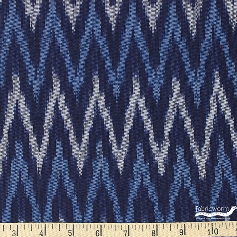 Imported Woven Yarn-Dyes, Seminole, Flame Stitch Blue