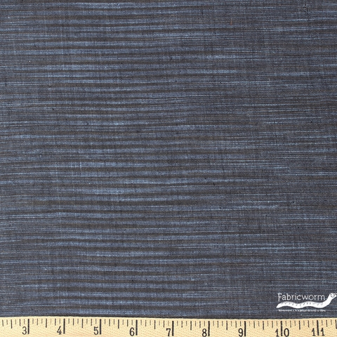 Imported Woven Yarn-Dyes, Winding Ridge, Horizontal Stripe Blue Grey