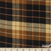 Imported Woven Yarn-Dyes, Windstar FLANNEL, Plaid Black Brown