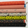 Itsuko Naka for Cotton + Steel, Neko and Tori, Coral in FAT QUARTERS 7 Total (PRECUT)