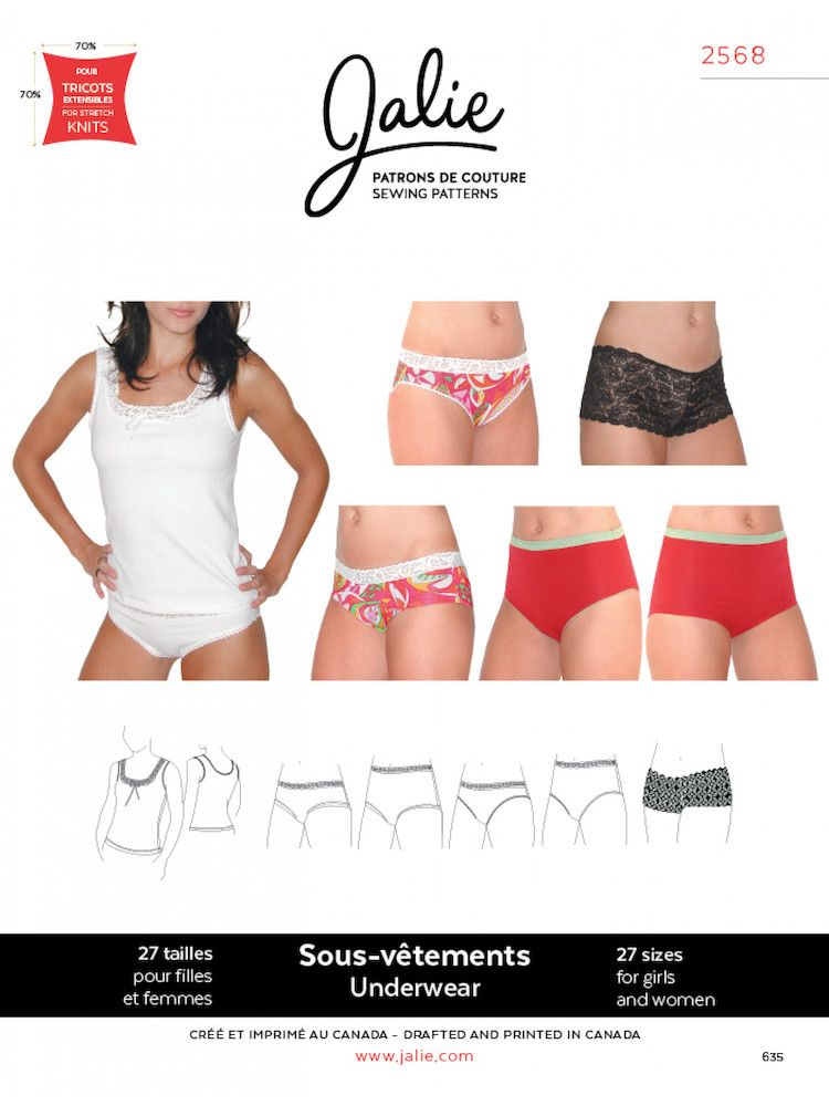 Jalie Sewing Patterns, No 2568, Women\'s and Girl\'s Camisole and ...