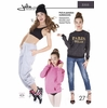 Jalie Sewing Patterns, No 3355, Women's and Girl's Sweatshirt, Hoodie, and Sweat Pants