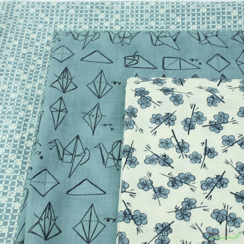 Janet Clare for Moda, Origami, Crane Teal