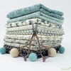 Janet Clare for Moda, Origami, Willow Cream Teal