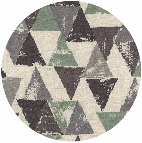 Japanese Import, BARKCLOTH, Painted Triangles Sage
