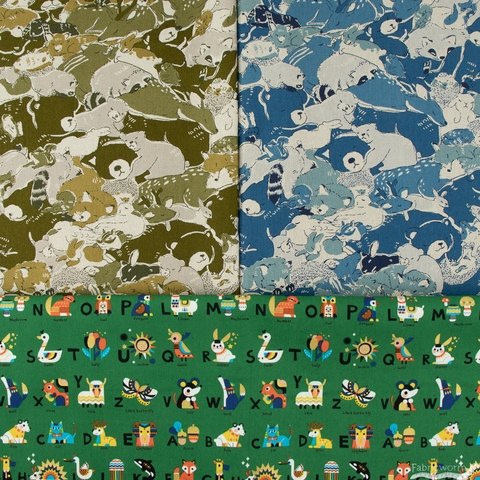 Japanese Import, Canvas, Animal Camo Green
