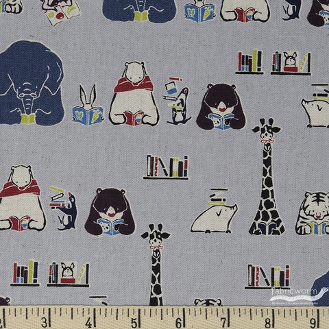 Japanese Import, CANVAS, Animal Readers Grey