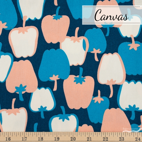Japanese Import, Canvas, Bell Peppers Blue