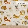 Japanese Import, Canvas, Cat Thoughts Natural