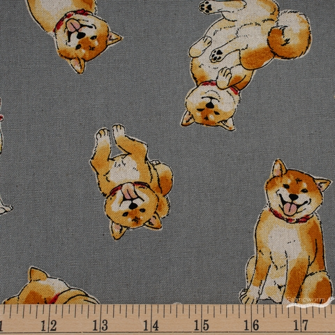 Japanese Import, Canvas, Shiba Inu Butt Grey
