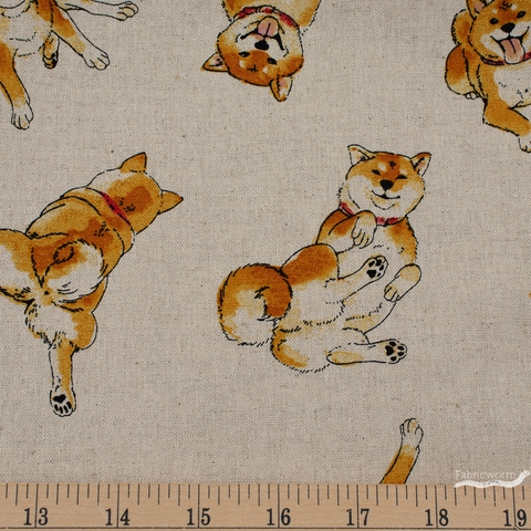 Japanese Import, Canvas, Shiba Inu Butt Natural