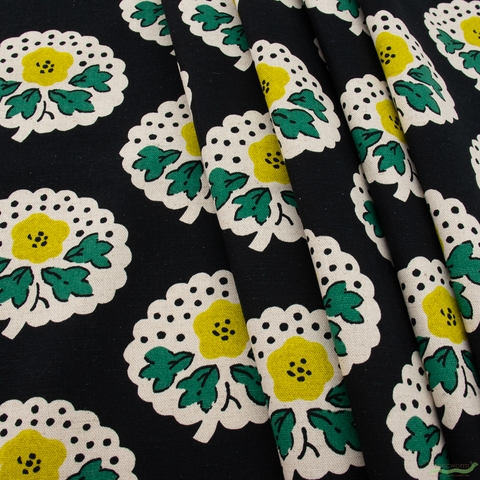 Japanese Import, Canvas, Flower Thoughts Black