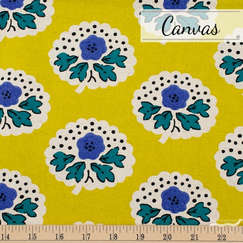 Japanese Import, Canvas, Flower Thoughts Bright Mustard