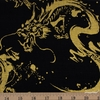 Japanese Import, Canvas, Golden Dragon Black