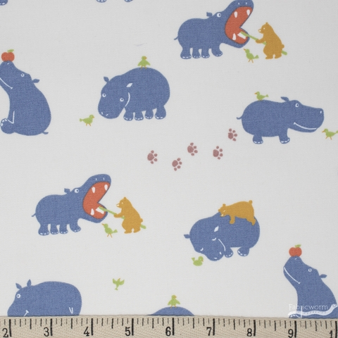Japanese Import, CANVAS, Healthy Hippos Cream