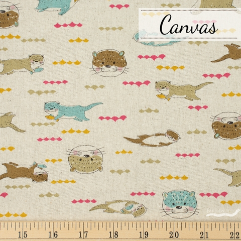 Japanese Import, Canvas, Hungry Otter Natural