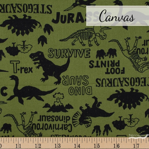 Japanese Import, Canvas, Jurassic Jams Green