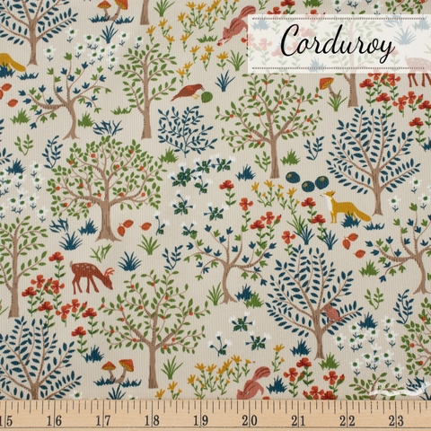 Japanese Import, Corduroy, Forest Frolic Beige