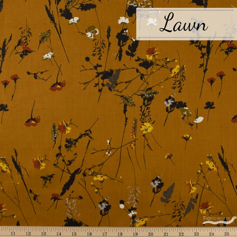 Japanese Import, Cotton Lawn, Wild Wishes Spice