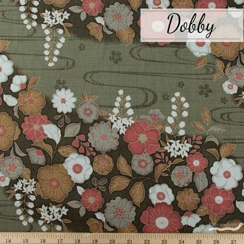 Japanese Import, Dobby, Floral Flow Field