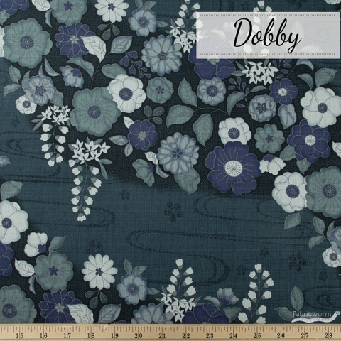 Japanese Import, Dobby, Floral Flow River