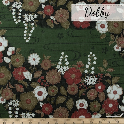 Japanese Import, Dobby, Floral Flow Tree