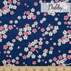 Japanese Import, Dobby, Windblown Blossoms Cobalt