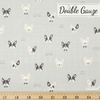 Japanese Import, Double Gauze, Doggie Delight Grey