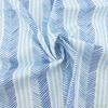 Japanese Import, Double Gauze, Herringbone Stripe Ocean