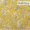 Japanese Import, Double Gauze, Scattered Floral Yellow