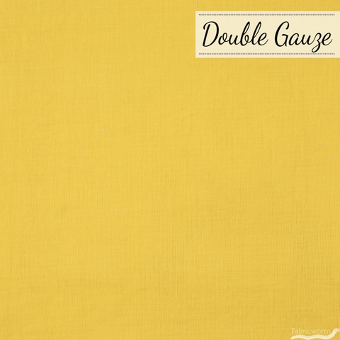Japanese Import, Double Gauze Solids, Mellow Mustard
