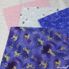 Japanese Import, DOUBLE GAUZE, Unicorn Dreams Blue
