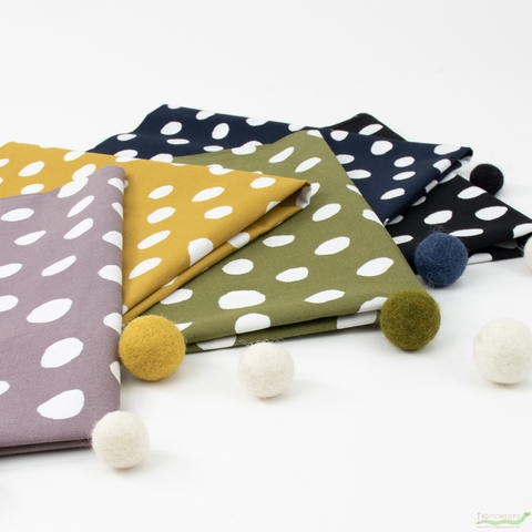 Japanese Import, Imperfect Polka Dot in HALF YARDS 5 Total