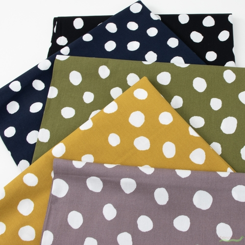 Japanese Import, Imperfect Polka Dot Navy