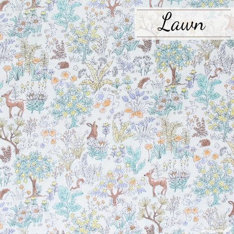 Japanese Import, Lawn, Furry Forest Cream