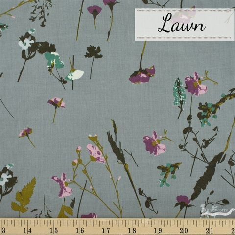 Japanese Import, Lawn, Wild Wishes Dusty Blue