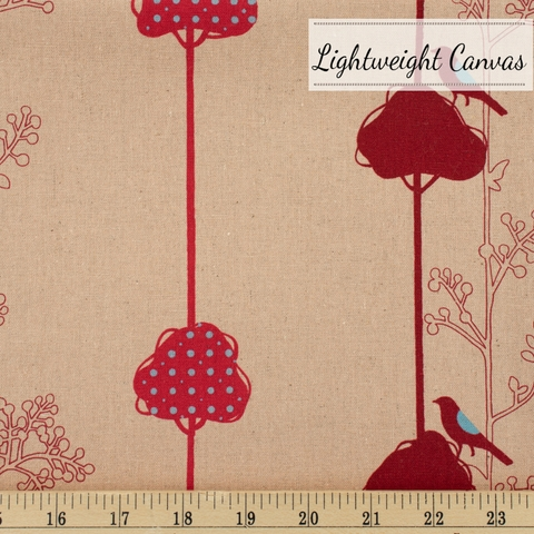 Japanese Import, Lightweight Canvas, Balance Bird Peach