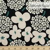 Japanese Import, Lightweight Canvas, Blossom Bunch Natural on Black