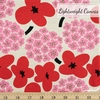 Japanese Import, Lightweight Canvas, Blossom Bunch Red